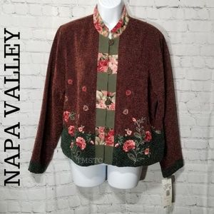 Napa Valley NWT Women's Floral Beaded Blazer